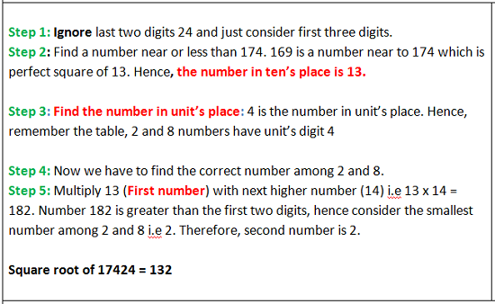 Square Root and Cube Root - Aptitude test, questions