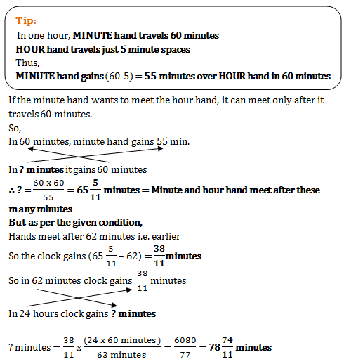 Clock Quantitative Aptitude Mcq Questions For Q 28848