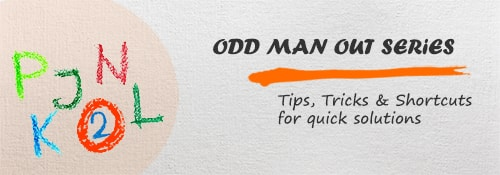Odd man out series - Aptitude test, questions, shortcuts, solved example videos