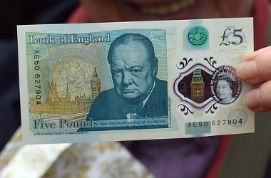 New Bank of England's 5 pound note made of animal fat