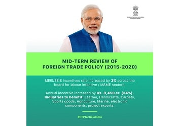 Centre releases Mid Term Review of Foreign Trade Policy