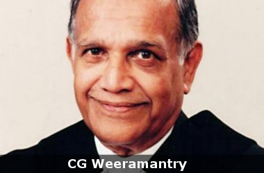 Well known Sri Lankan jurist CG Weeramantry no more
