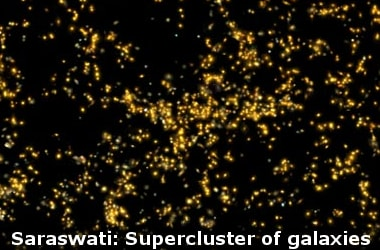 Saraswati: Supercluster of galaxies discovered by Indian scientists!