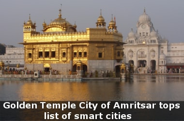 Golden Temple City of Amritsar tops list of smart cities