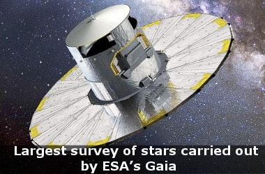 Largest survey of stars carried out by ESA's Gaia