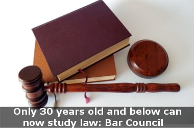 Only 30 years old and below can now study law: Bar Council