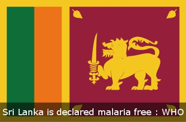 Sri Lanka is malaria free : WHO